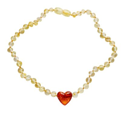 Baltic Amber - Hearts Pendant 1